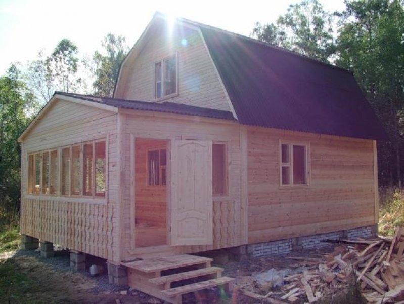 Веранда для деревянного дома своими руками фото